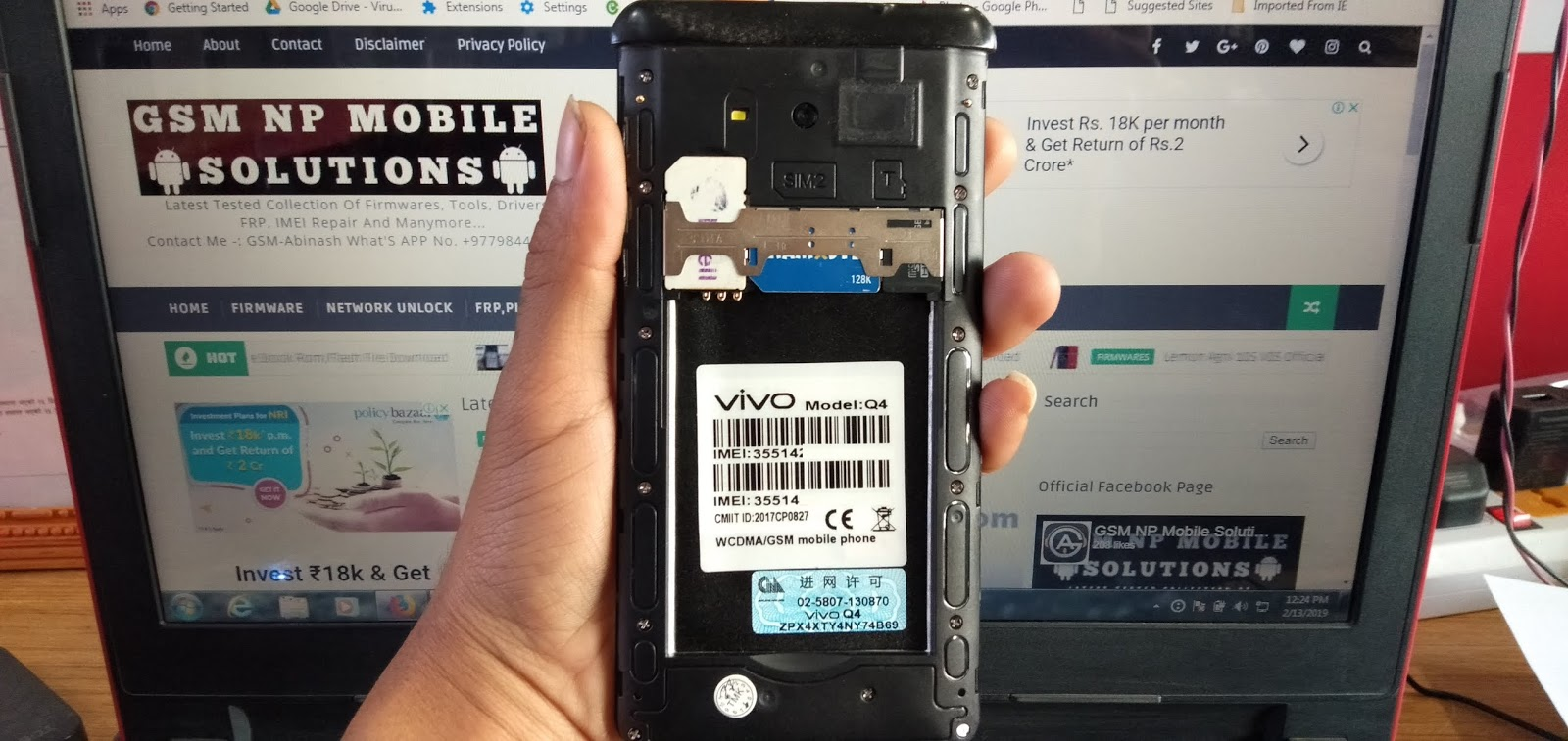 VIVO Q4 Clone MT6572 Firmware Stock Rom/Flash File Download - GSM NP