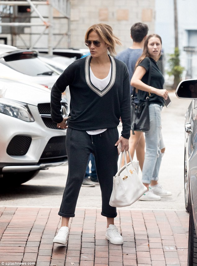 Jennifer Lopez  joins Alex Rodriguez and their daughters for lunch