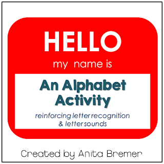 Hello My Name Is... activities to practice the alphabet, number recognition, and sight words.