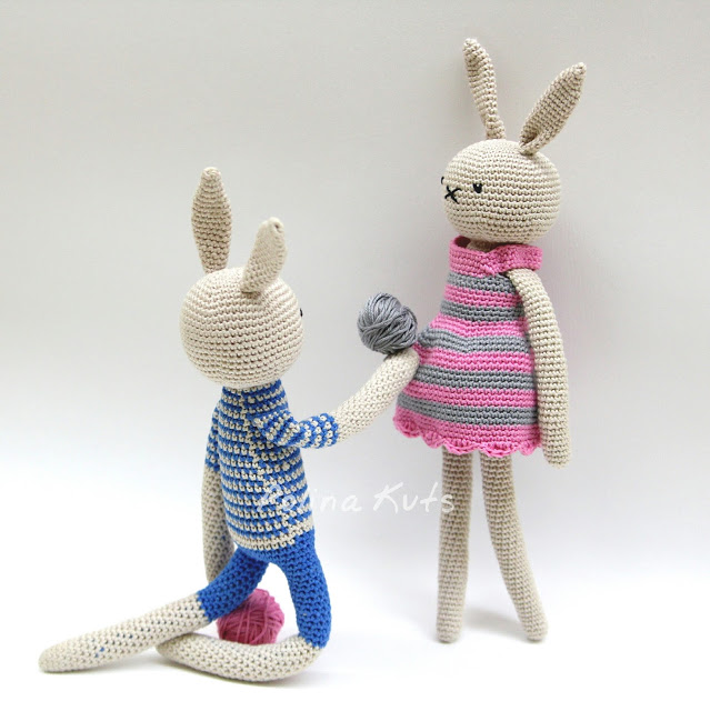 Amigurumi Link Pattern : Amigurumi Rabbit Drees-Free Pattern - Amigurumi Free Patterns