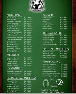 menu minuman