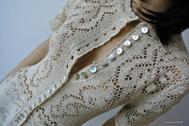 sukienka szydełkiem ściegiem filet