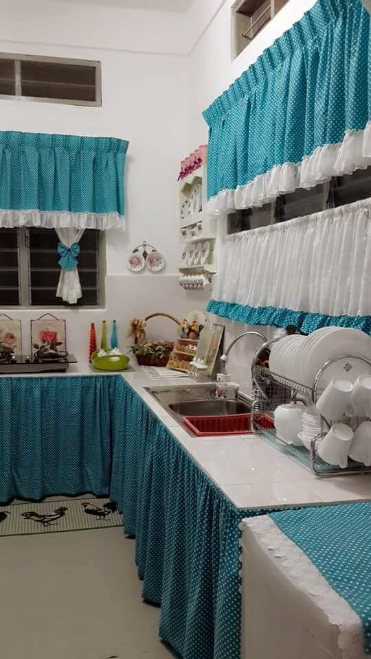 Diy Langsir Table Top Dapur Desainrumahid