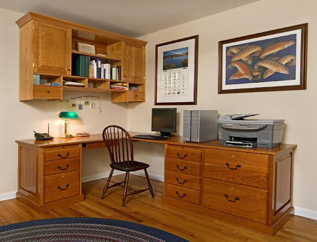 best solid wood home office desk and cabinets for sale
