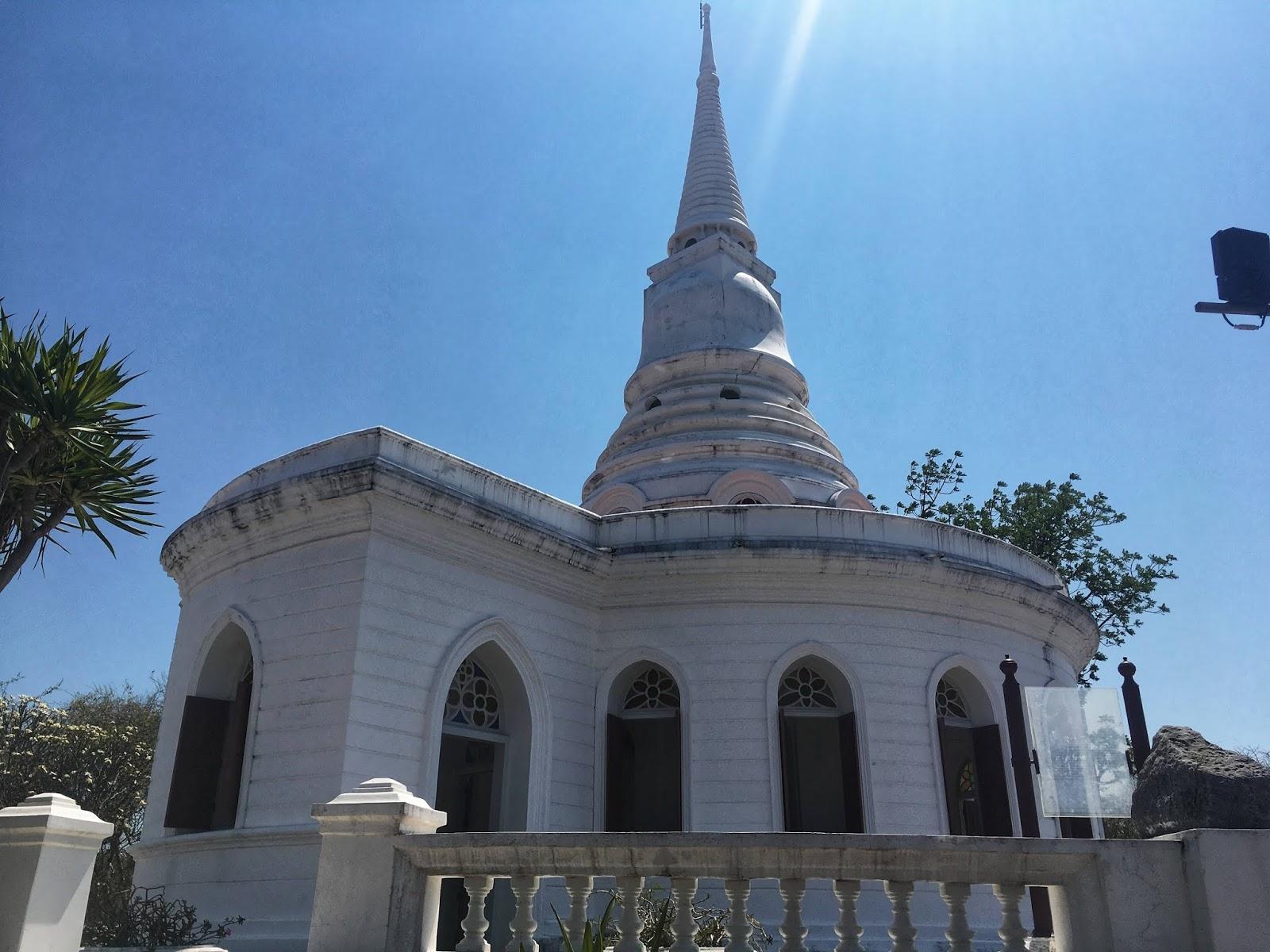 a Buddhist temple that looks like a Christian church, koh sichang, thailand