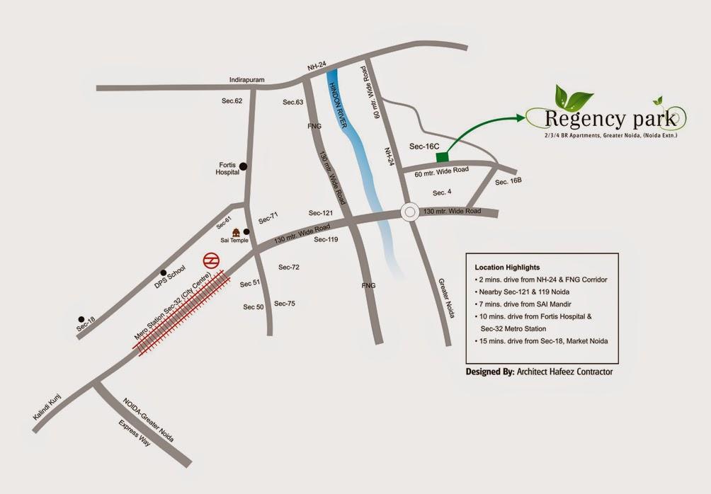 Location-Map-Regency-Park-Noida-Extension