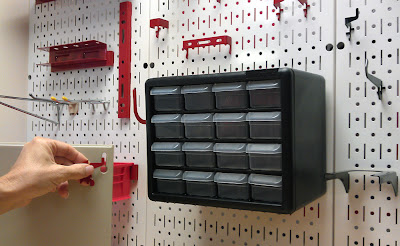 Peg Board Bins