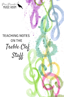 Teaching notes on the treble clef staff: A new way of teaching to ensure success in your music classroom!