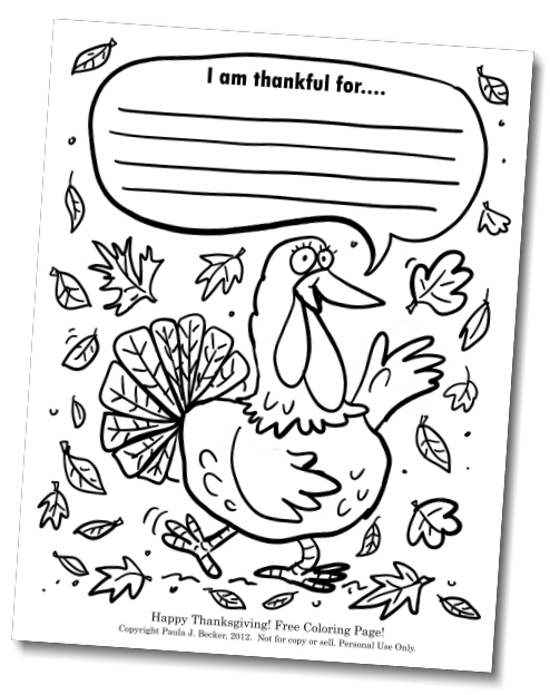 Free coloring pages of thankful kids for I am thankful for turkey coloring page