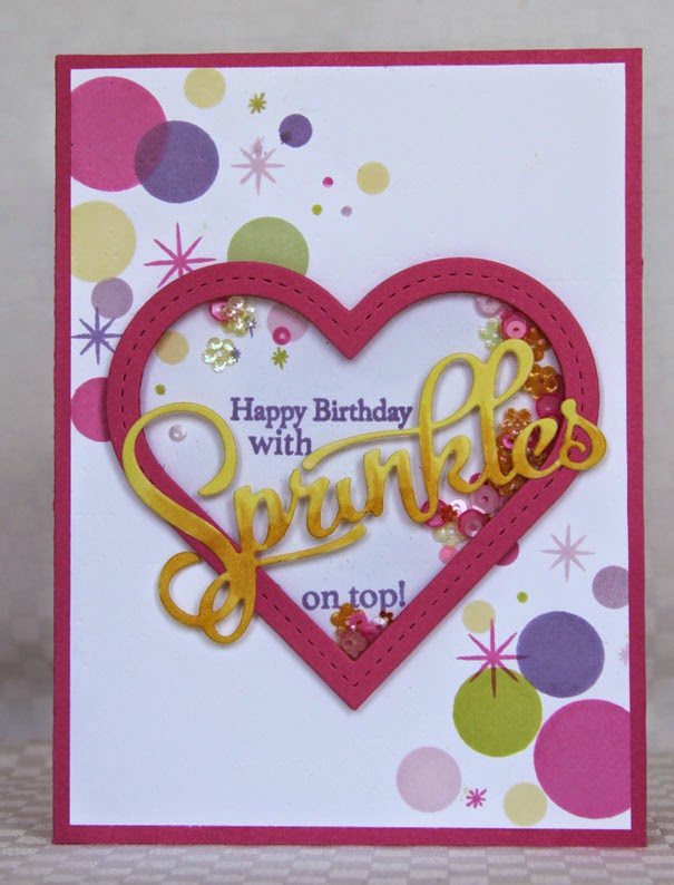 Rainbow Gardens Heart Shaker Birthday