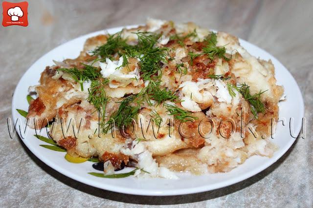рецепт жареной рыбы с луком