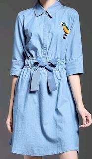 https://www.stylewe.com/product/light-blue-shirt-collar-3-4-sleeve-a-line-bow-shirt-dress-73490.html