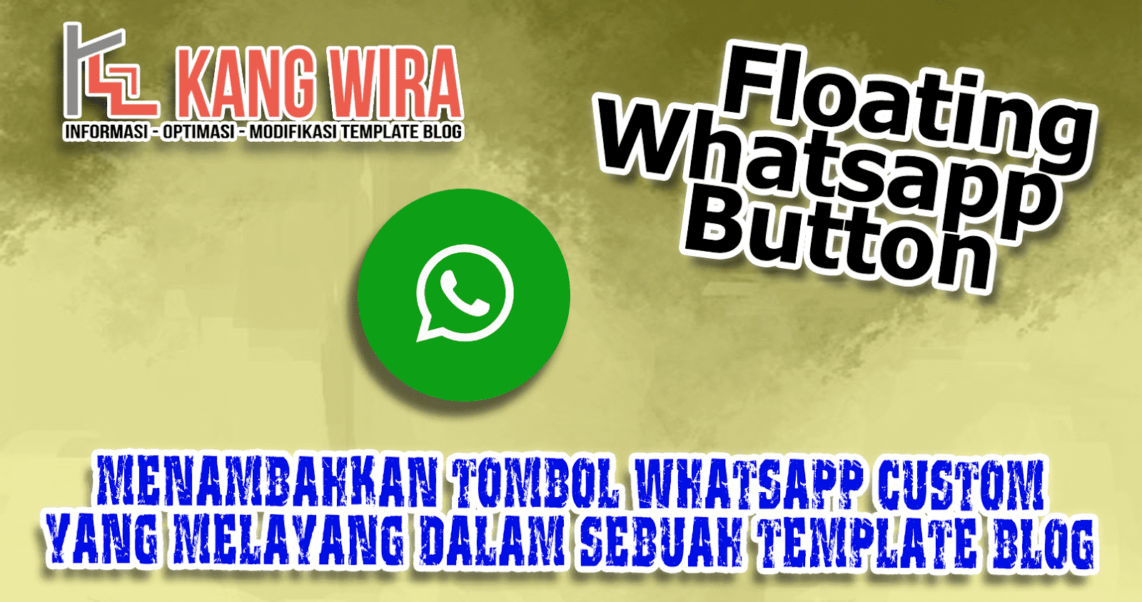 Tombol Whatsapp Melayang di Blog