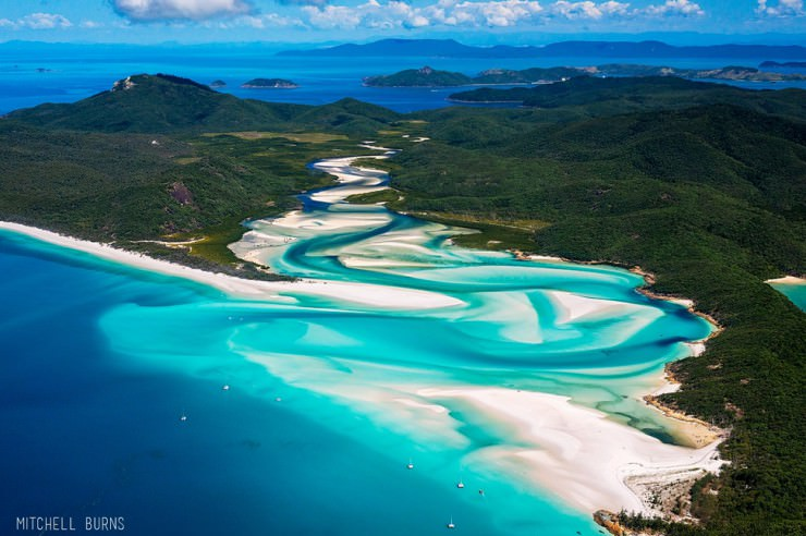 33 Amazing Beaches From Around The World - Whitehaven Beach, Whitsunday Island, Queensland, Australia