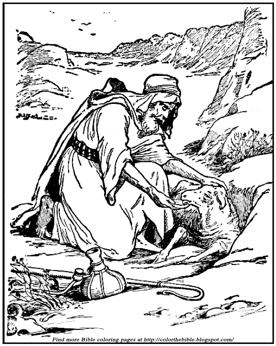 sheep shepherd coloring pages - photo#10