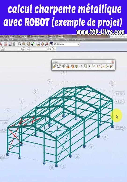 calcul charpente métallique avec ROBOT – exemple de projet