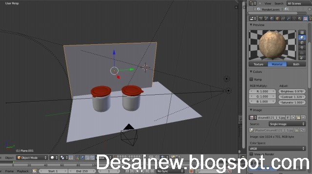 preview modeling kemasan lem di blender 3d