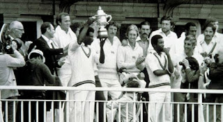 ICC Cricket World Cup 1979 Winner team West Indies holding the trophy