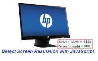 Detect the screen resolution with JavaScript