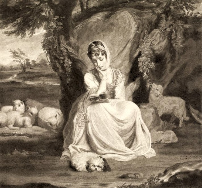 Frances Anne Crewe as St Genevieve  Print by T Watson after Sir Joshua Reynolds (1773)  © British Museum