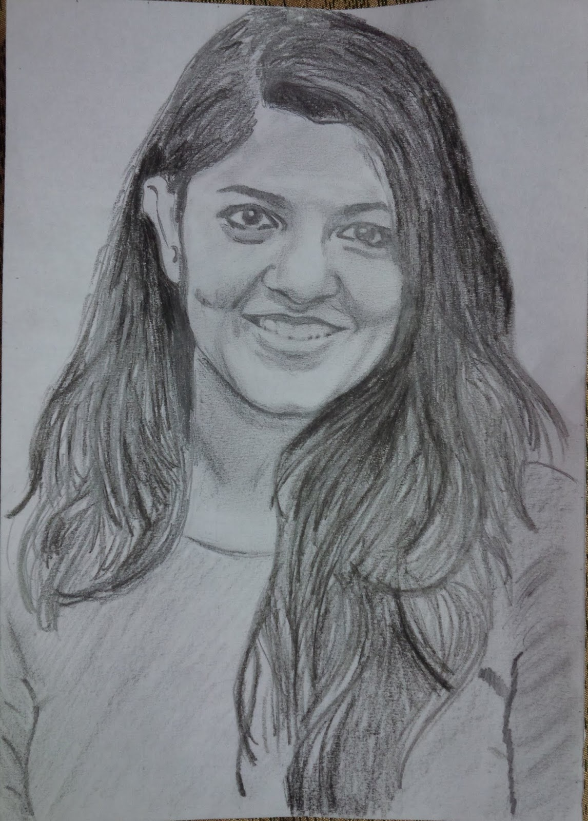 Pencil drawing aparna balamurali