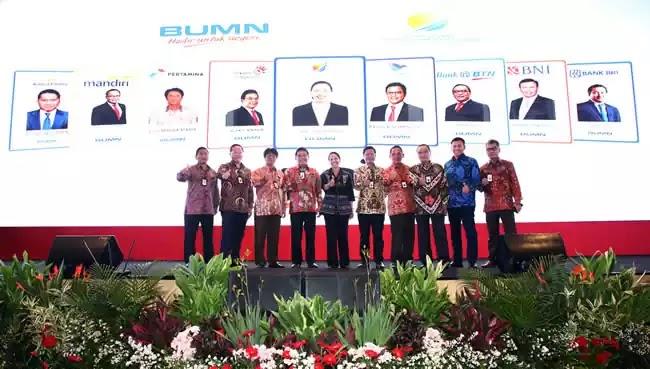 Menteri BUMN Rini Sumarno peluncuran kartu BUMN
