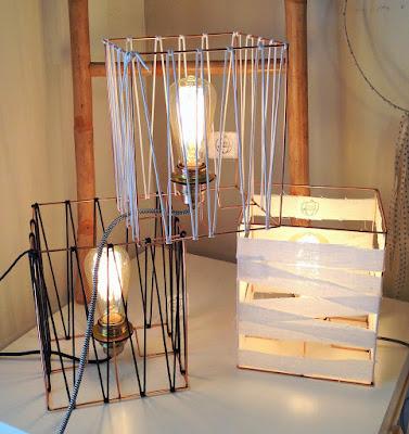 lampe, ampoule edison, cable textile