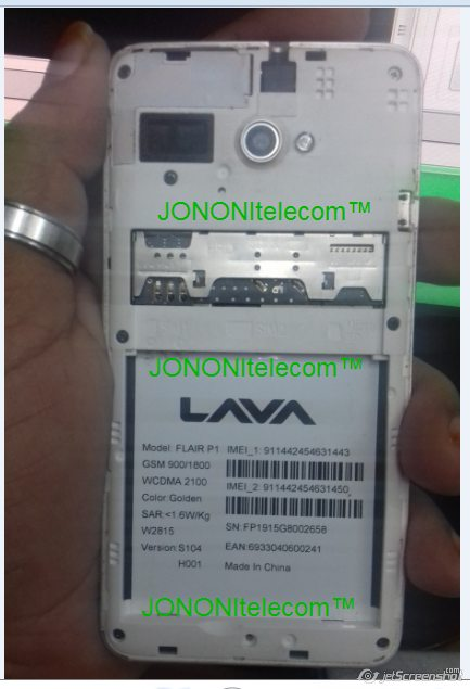 LAVA FLAIR P1 S104 Flash File Firmware - Clean Rom