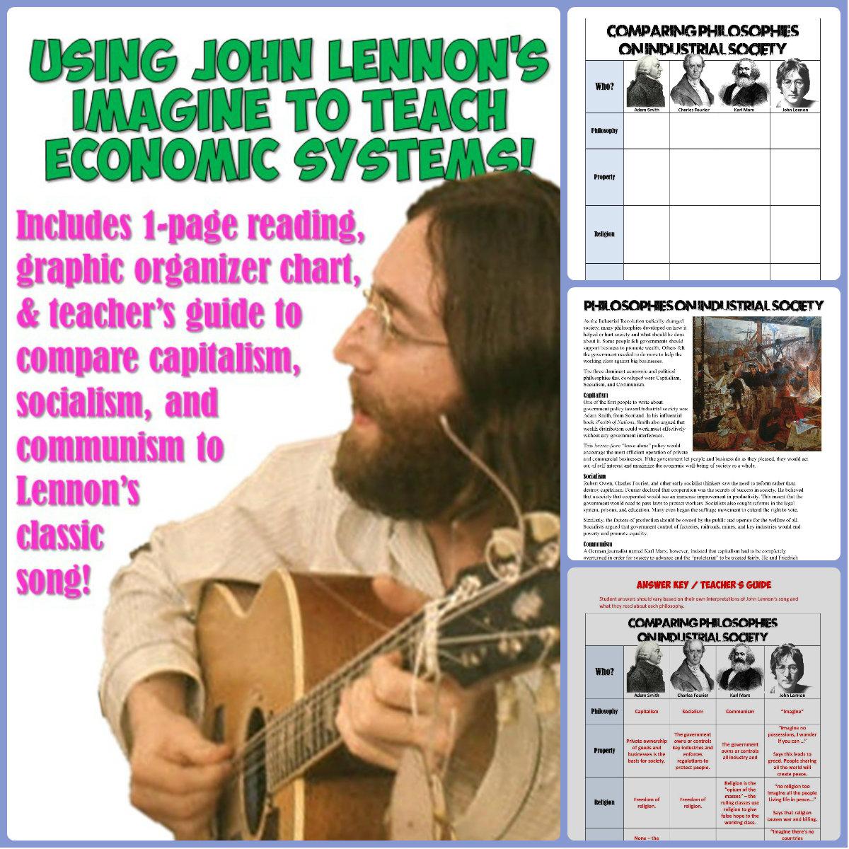 Students Of History Use John Lennon S Imagine To Teach Communism Capitalism Amp Socialism Lesson