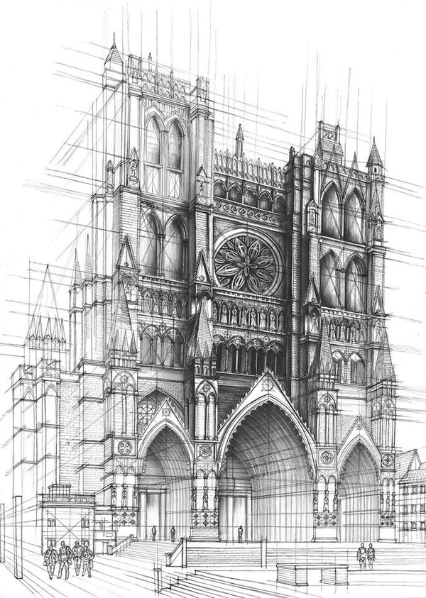 and architecture interior design and architecture in pencil drawings
