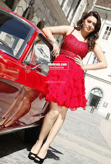 Hansika Motwani in lovely Red Mini Dress Dance Stills 07 .xyz.jpg