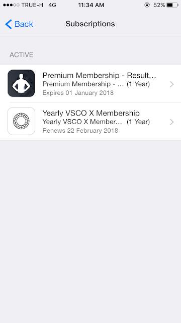 วิธีการยกเลิกการต่ออายุ( unsubscription ) อัตโนมัติ (Auto Renew) บน iPhone