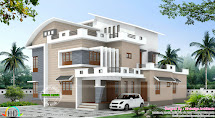 4 Bedroom Modern Mix House Plan Kerala Home Design