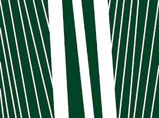 weiße Streifen auf grünem Hintergrund