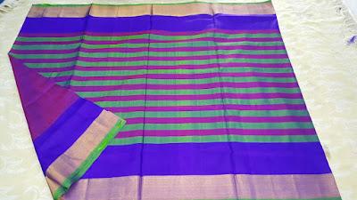 Uppada Muti Color Thick Lines Pure Silk Sarees, uppada.om@gmail.com