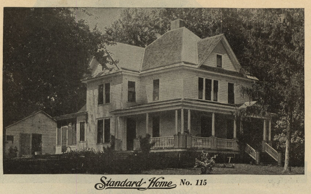 close up view of GVT No 115 from 1916 Standard Homes catalog
