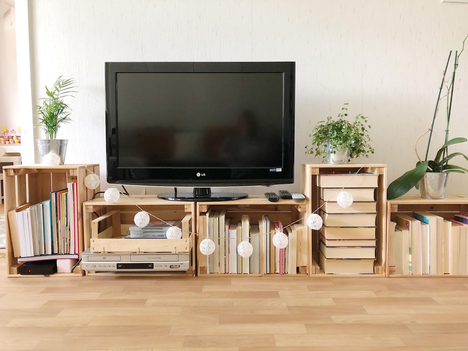 tv-taso Ikean laatikoista