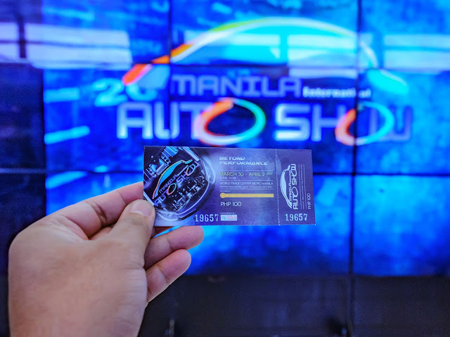 Model Manila International Auto Show 2017 #mias2017 Ticket