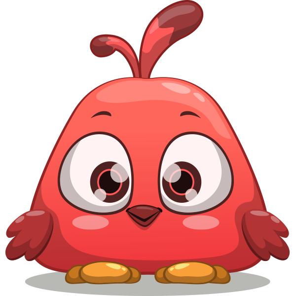 Little Red Bird Emoji