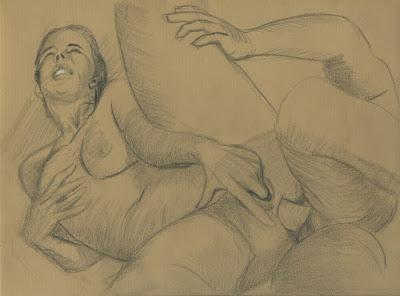 dessin d'une femme se faisant enculer les cuisses ouvertes