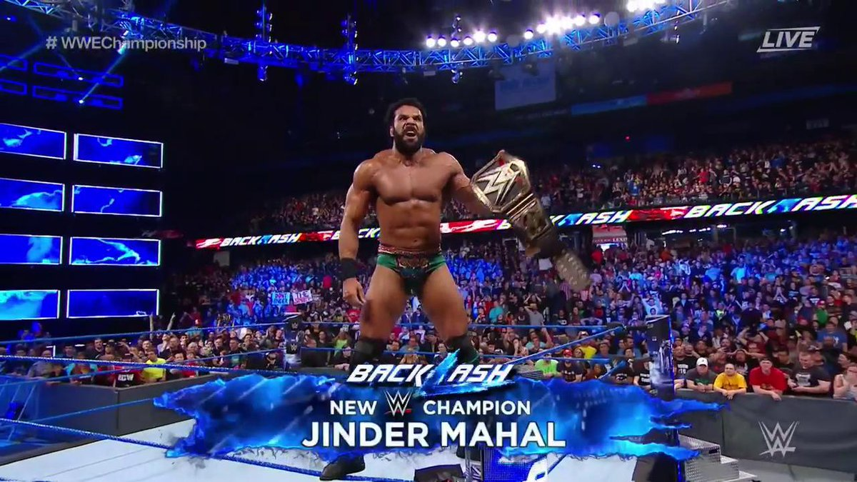 WWE Backlash 2017 Quick Results - Indian Origin Wrestler Captures WWE World Title and more
