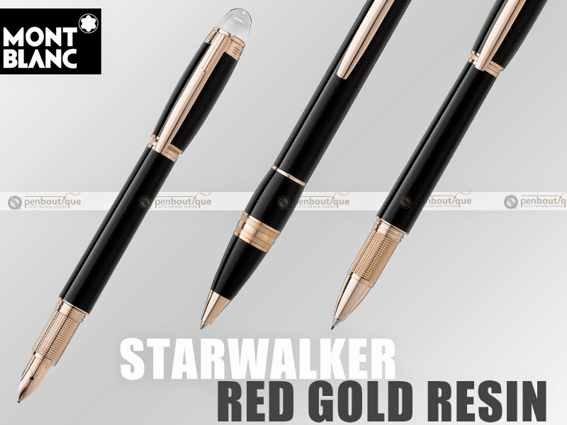 Montblanc Starwalker Red Gold Plated Resin