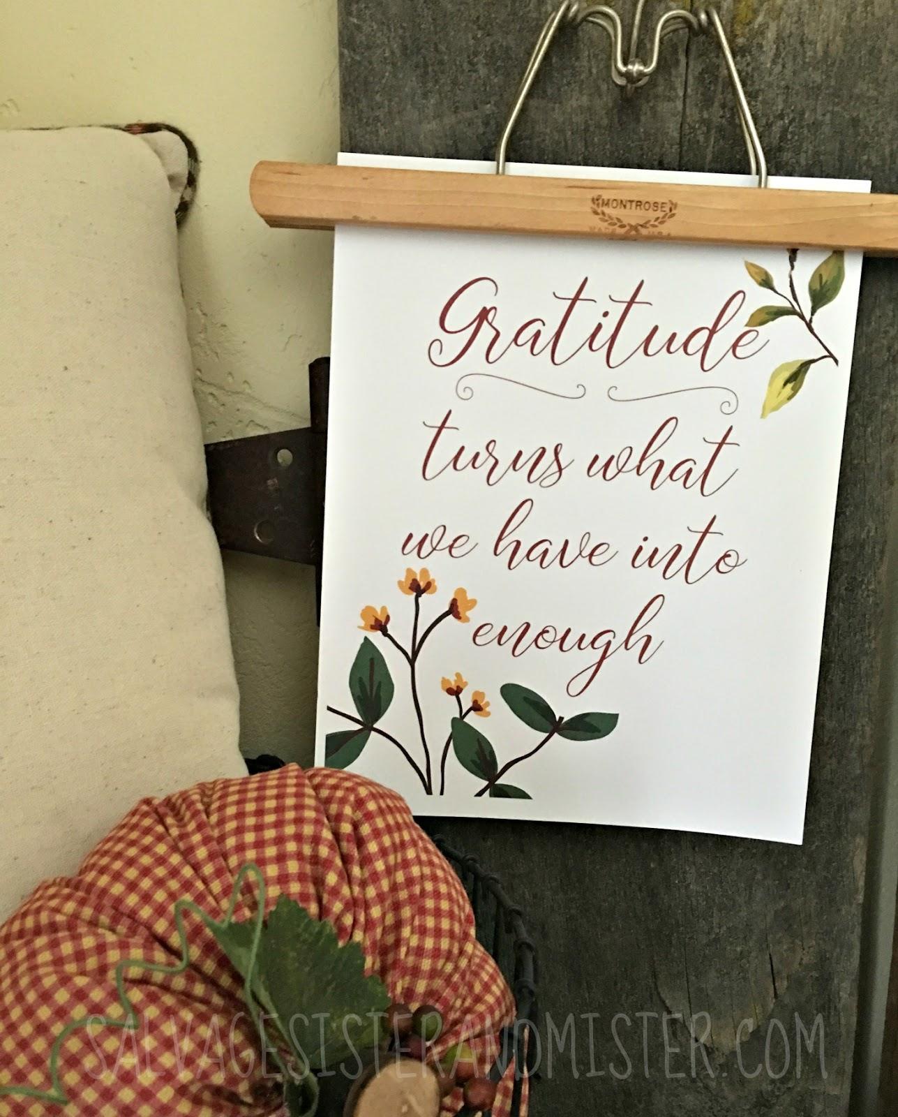 Gratitude free fall printable