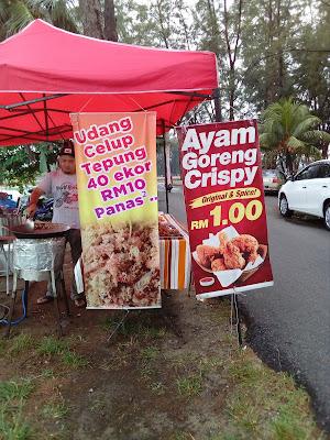 Santai Petang dan makan udang 40 ekor RM10 di Kuala Ibai
