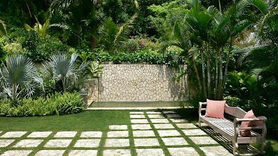 Un bonito jardín en casa
