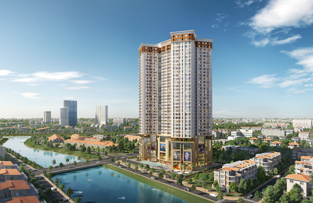 Phối cảnh tổng thể chung cư Samsora Premier 105 Chu Van An - Hà Đông