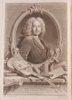An illustration showing a portrait of a man within a decorative frame.