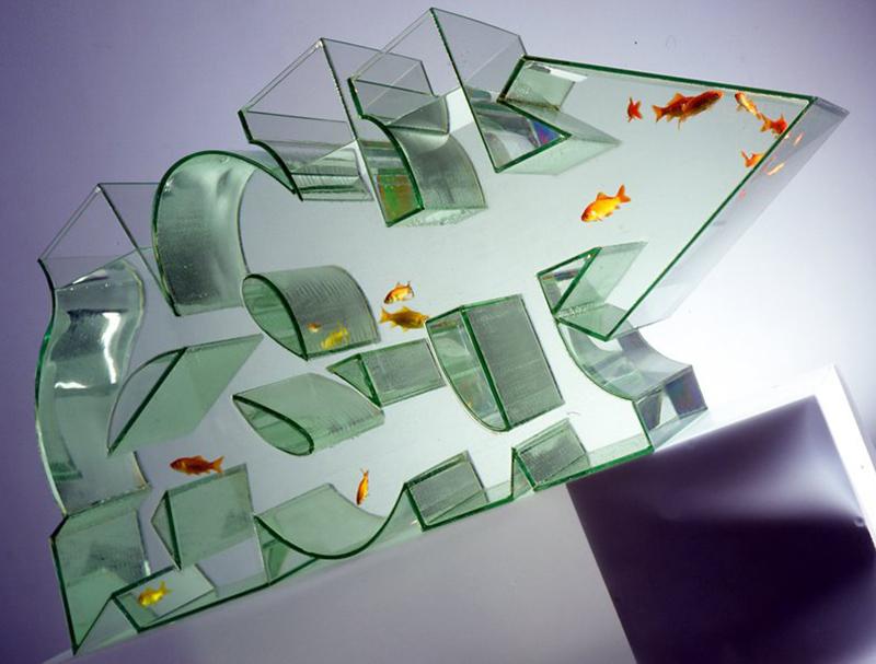 graffiti fish tank