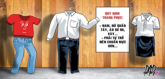 Tp hồ chí minh không cấm công chức mặc áo thun, quần jeans đi làm