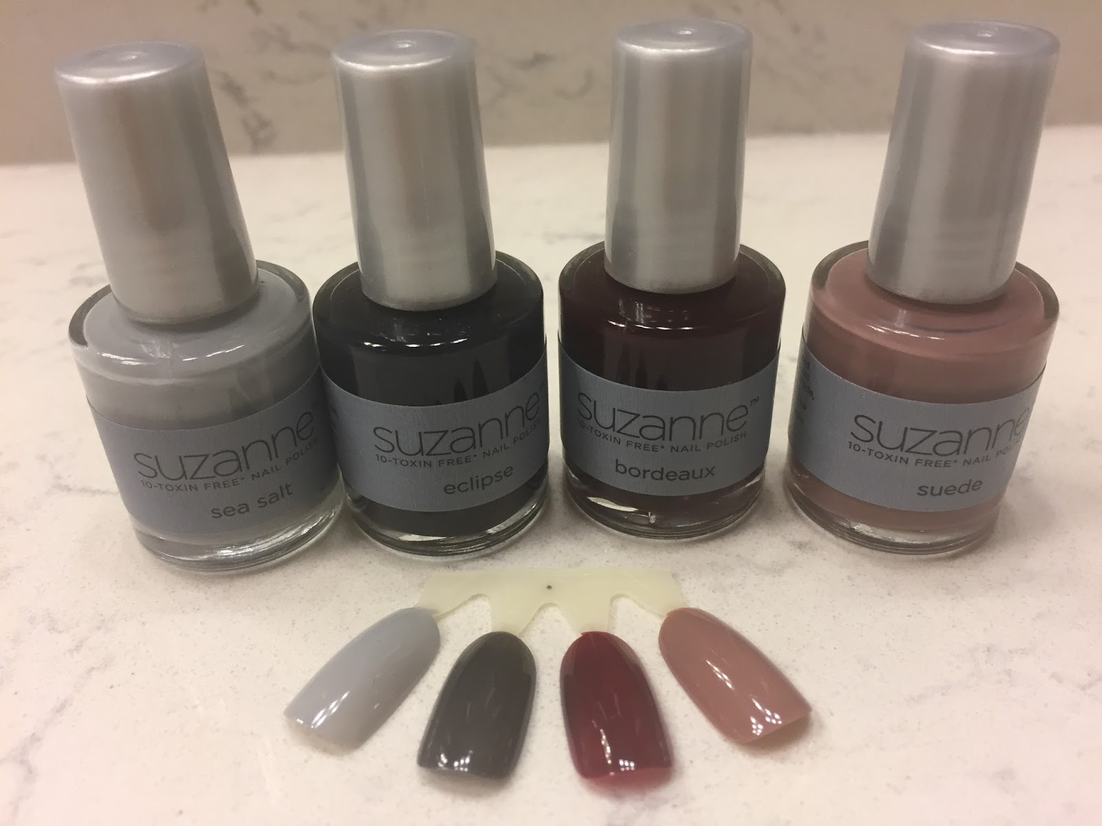 9ac36184881 I am absolutely loving Suede as my nail color and it is the color that I am  reaching for all the time now for my nails. I like Bordeaux on my toes.